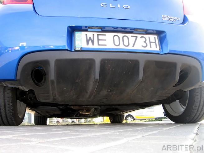 Dyfuzor W Renault Clio Sport 2 Rury Wydechowe I Szerokie